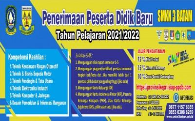 Pendaftaran PPDB SMKN 3 Batam Tahun Pelajaran 2021-2022