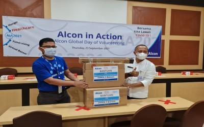 Bantuan Alat Prokes dari CSR PT Alcon Batam